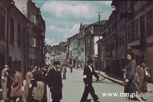 Ulica Szeroka w Lublinie, 1940 rok, fot. Max Kirnberger. Źródło: Deutches Historisches Museum