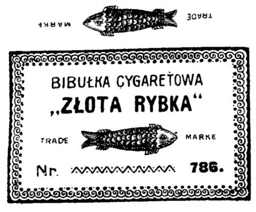 """Złota Rybka """"trade marke"""""""
