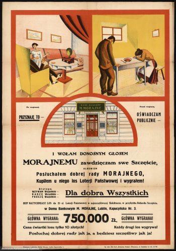 Plakat Domu Bankowego M. Morajne