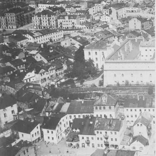 Fragment panoramy lotniczej Lublina z lat 20. XX wieku. Źródło: Muzeum Historii Miasta Lublina