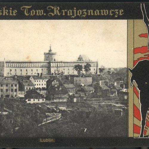Podzamcze - widok z placu po Farze. Pocztówka ze zbiorów Zbigniewa Lemiacha