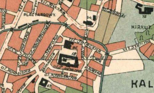Fragment planu Lublina z 1931 roku wykonanego przez Biuro Regulacji Magistratu m. Lublina. Źródło: Archiwum Państwowe w Lublinie