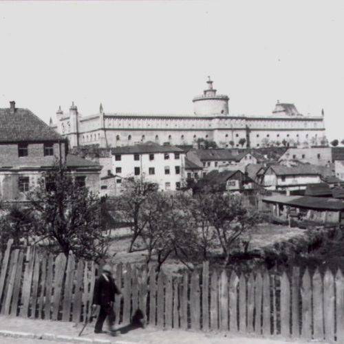 Widok na Podzamcze z ulicy Podwale. Zdjęcie ze zbiorów Wojciecha Turżańskiego