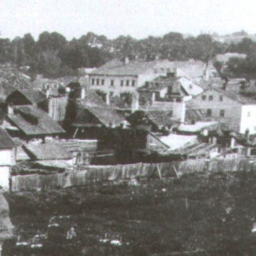 Fragment zdjęcia z widoczną nieruchomością pod adresem Krawiecka 41