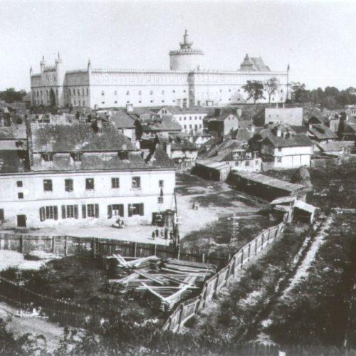 Panorama na Zamek. Fotograf nieznany. Zdjęcie ze zbiorów Muzeum Historii Miasta Lublina