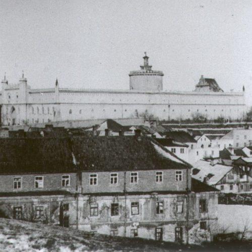Widok na Podzamcze z placu po Farze. Fot. Józef Czechowicz. Zdjęcie ze zbiorów Muzeum Lubelskiego