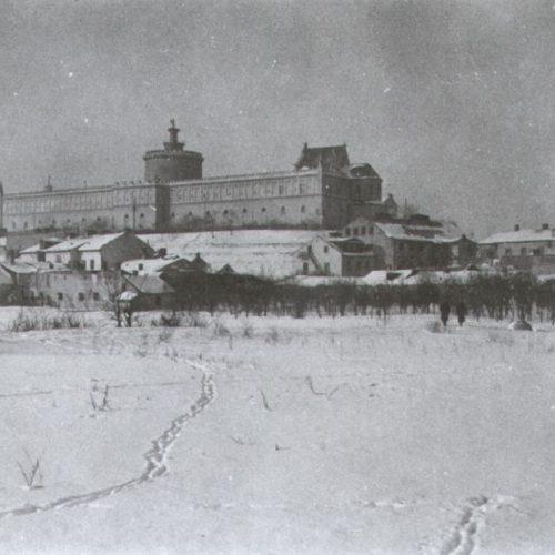 Widok na Zamek i Podzamcze. Fotograf nieznany
