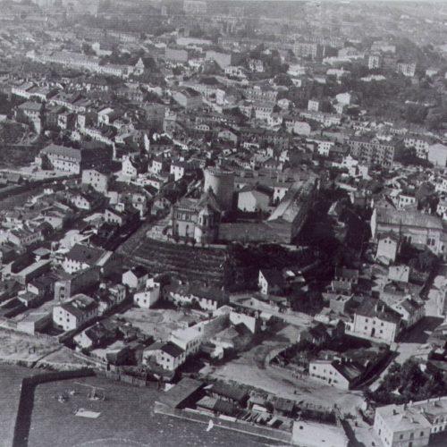 Widok Podzamcza w latach 20. XX wieku