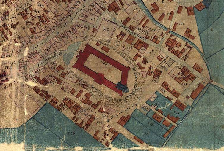 Fragment planu Lublina Pawła Ceglińskiego z 1870 roku. Źródło: Archiwum Państwowe w Lublinie
