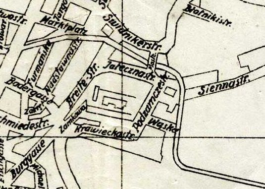 Fragment planu Lublina z 1944 roku. Źródło: Archiwum Państwowe w Lublinie