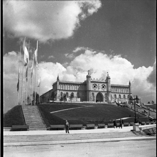 Plac Zebrań Ludowych w dniu 22 lipca 1954 roku. Fot. Edward Hartwig