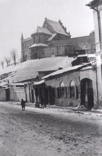 Fragment zabudowy ulicy Krawieckiej. Fot. Józef Czechowicz. Źródło: Muzeum Lubelskie