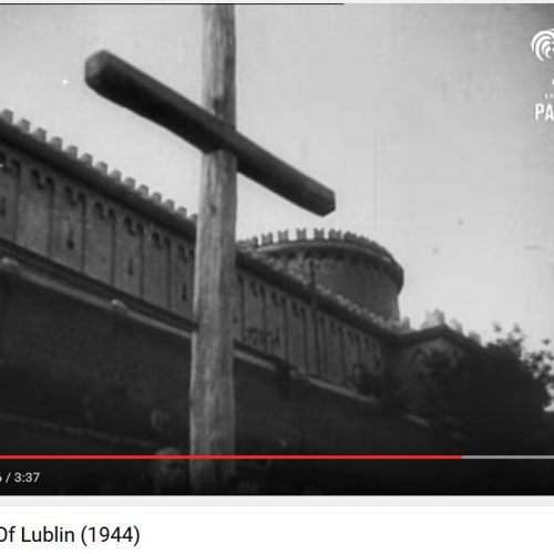 "Kadr z filmu ""The tragic City of Lublin"""