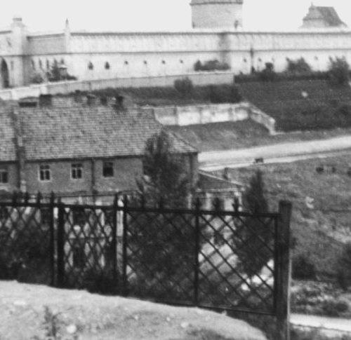 Okolice Zamku po II wojnie światowej. Fot. Wiktor Ziółkowski. Źródło:  Muzeum Historii Miasta Lublina
