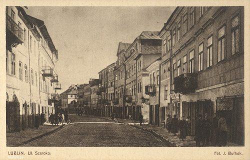 Lublin. Ulica Szeroka, fot. Jan Bułhak