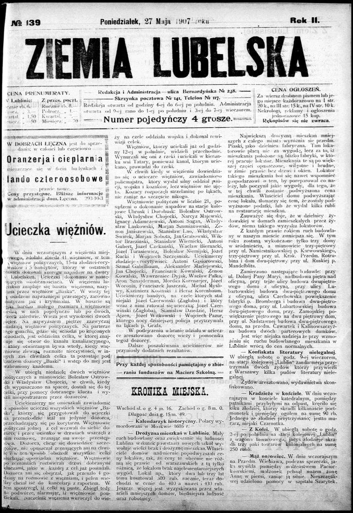 Ziemia Lubelska, 27 maja 1907