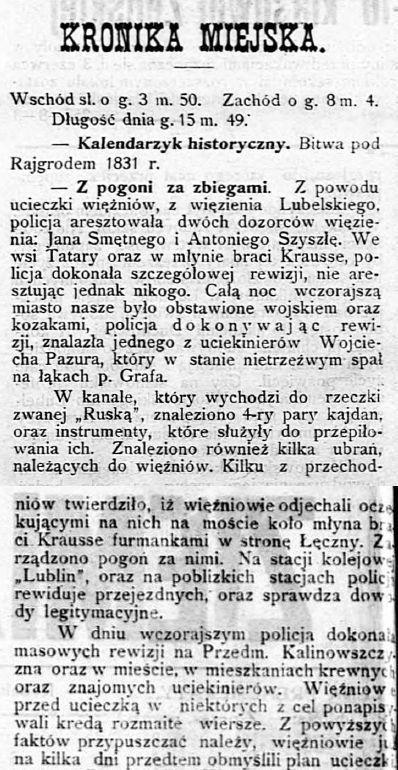 Ziemia Lubelska, 28 maja 1907