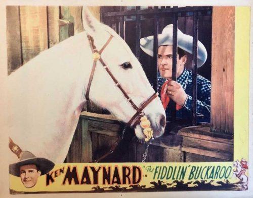 Ale bohater! Ale koń! Ken Maynard ze swoim wiernym towarzyszem Tarzanem (Wikimedia Commons).